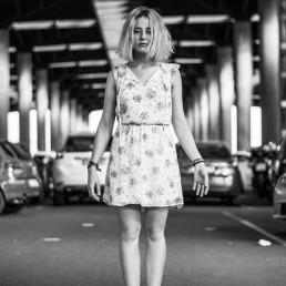 Maria Magdaleno en el parking de Atocha por Sitofon